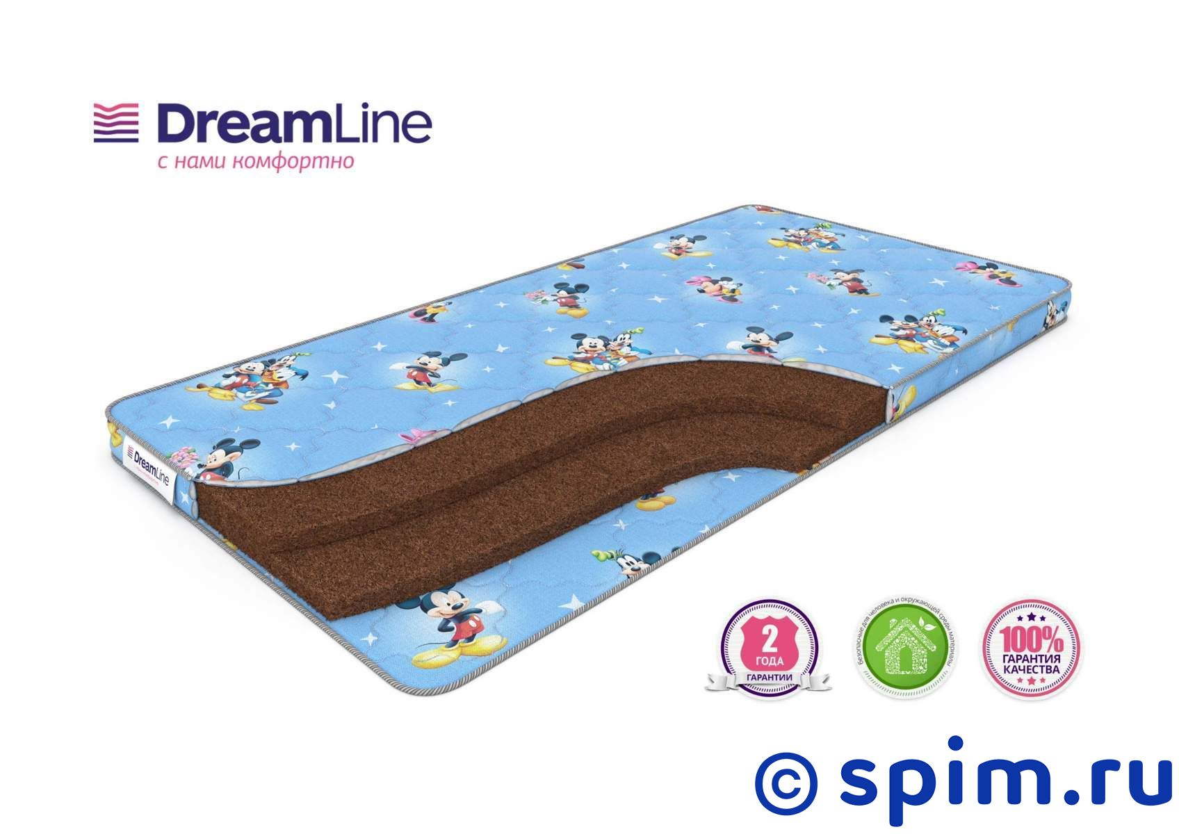 Детский матрас DreamLine BabyDream 6 80х200 см матрас sealy premier plush 80х200 см