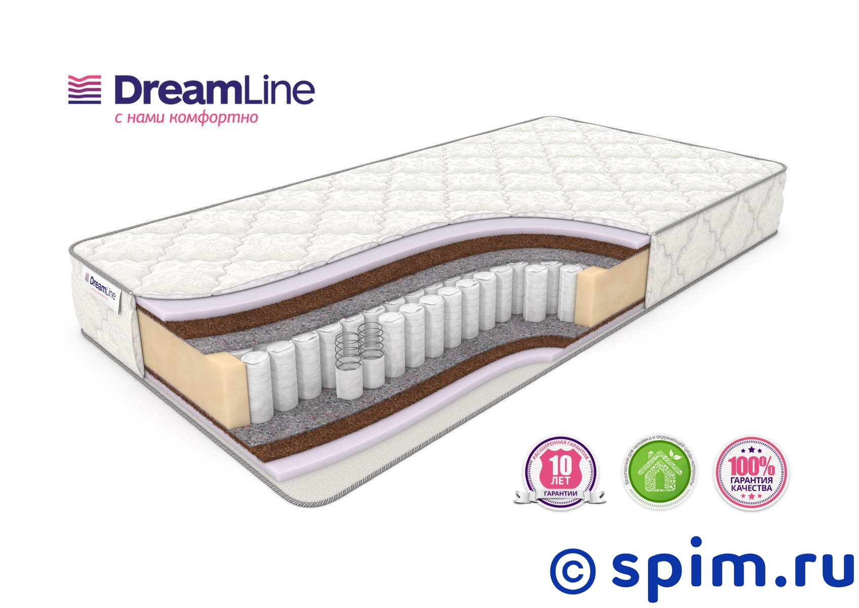 Матрас DreamLine Eco Foam Hard Tfk 150х195 см