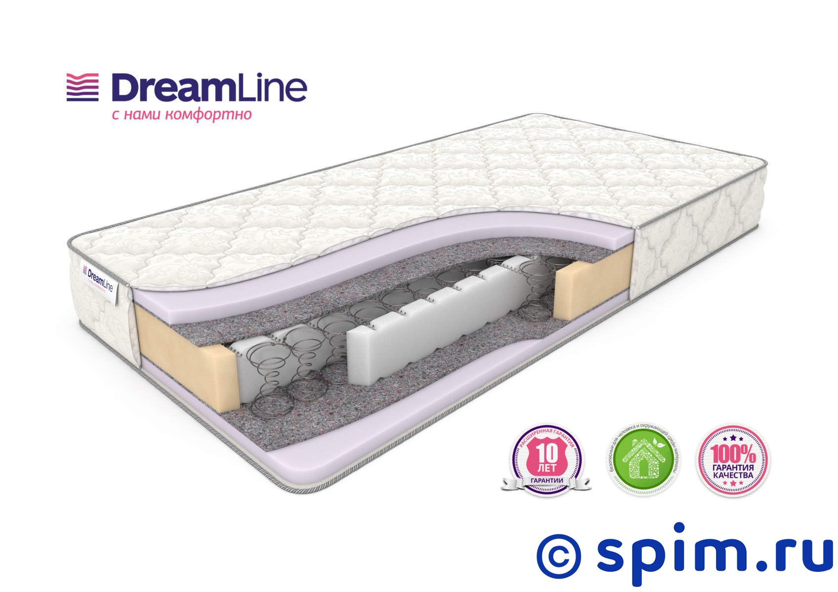 Матрас DreamLine Eco Strong Bonnell+ 180х190 см