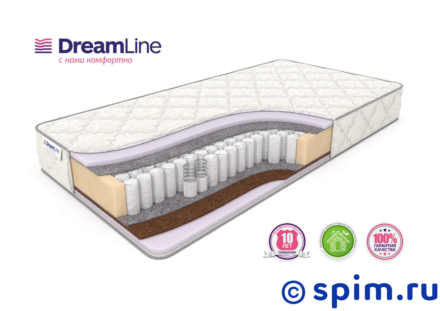 Матрас DreamLine Kombi 3 Tfk 180х195 см матрас dreamline sleepdream medium tfk 140х200 см