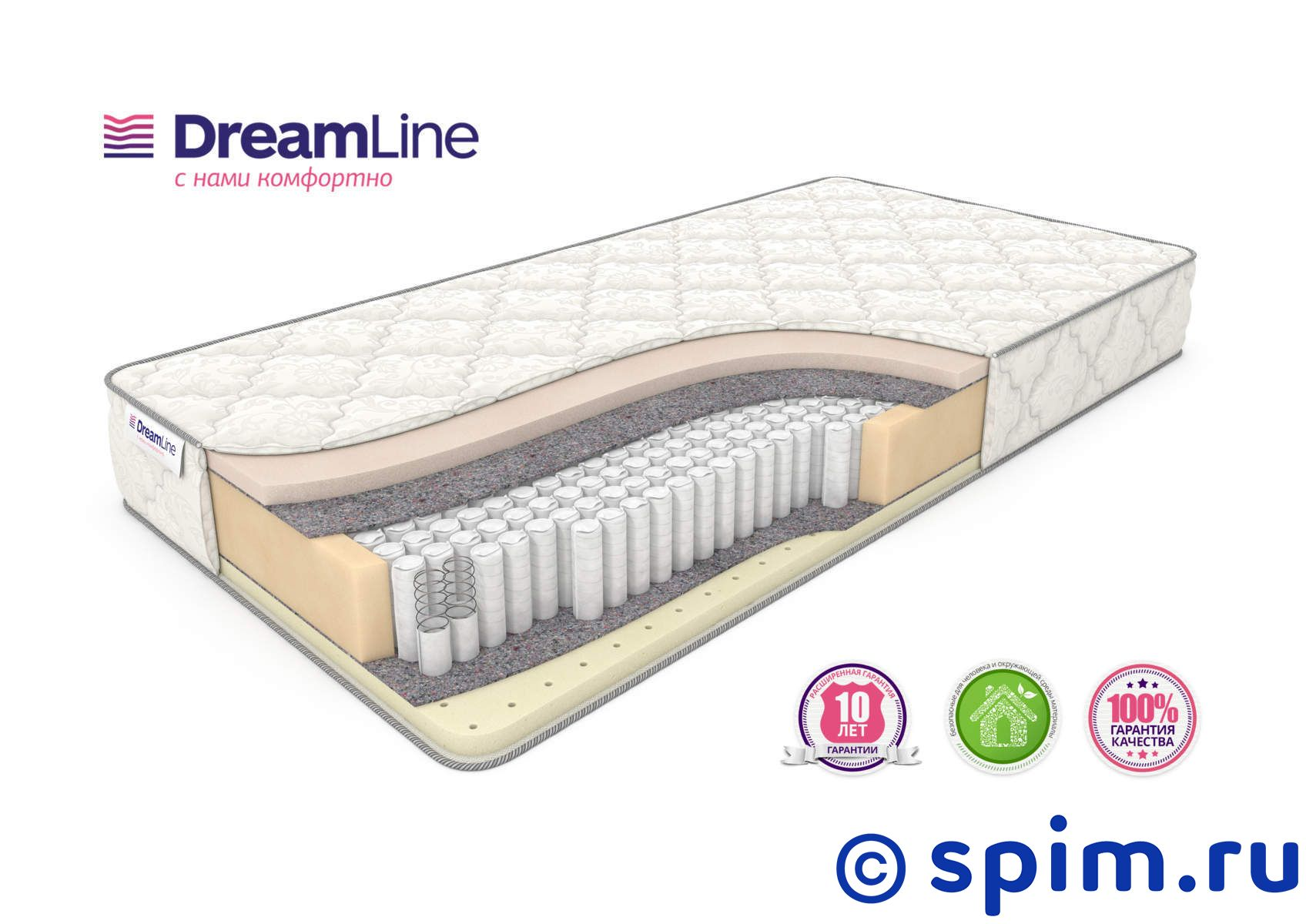 Матрас DreamLine Memory Sleep S1000 120х190 см матрас dreamline memory dream s 1000 180x190