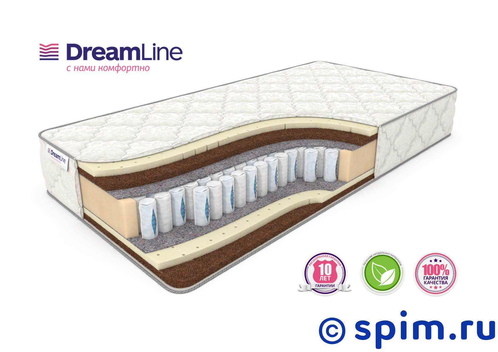 Матрас DreamLine Prime Mix Ds 90х190 см матрас dreamline mix smart zone 120х200