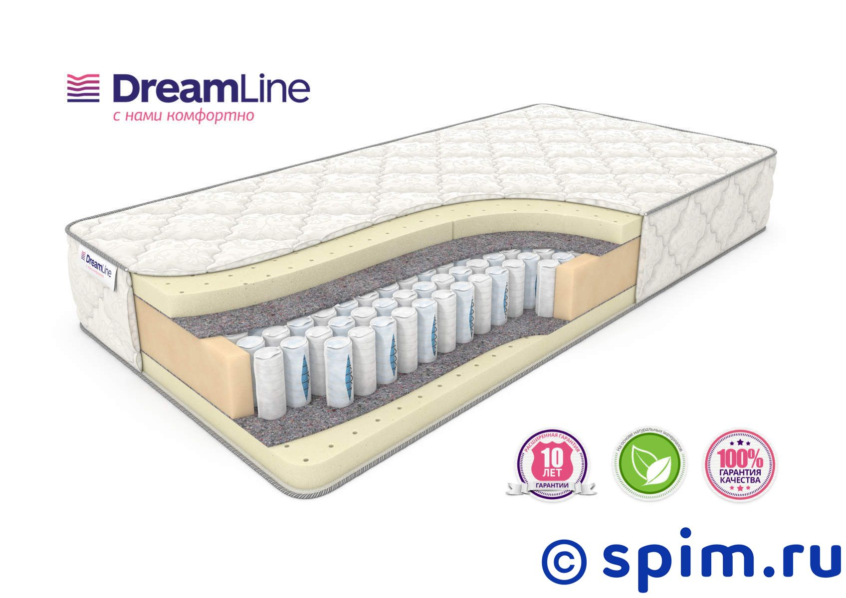 Матрас DreamLine Prime Soft Ds 180х195 см матрас dreamline dreamroll contour mix 180х200