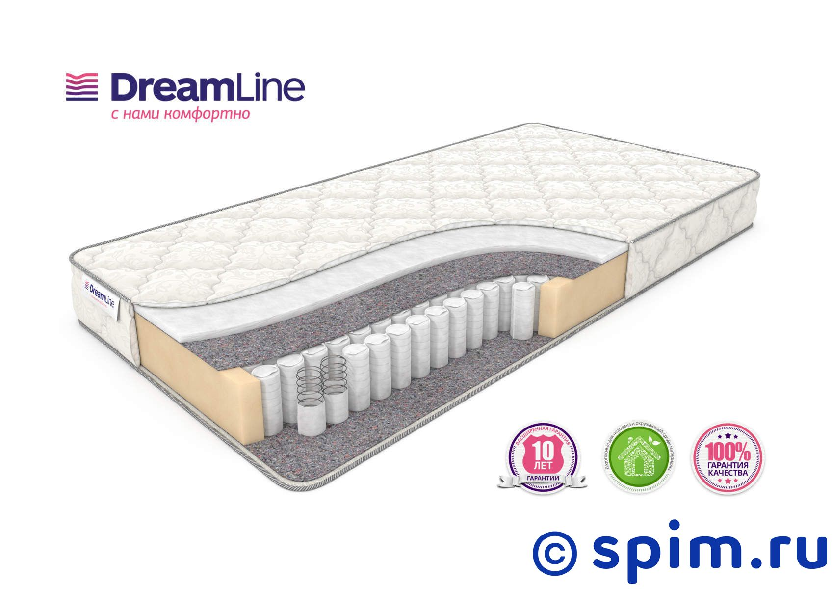 Матрас DreamLine Single Hol Tfk 120х195 см матрас dreamline dreamroll contour mix 180х200