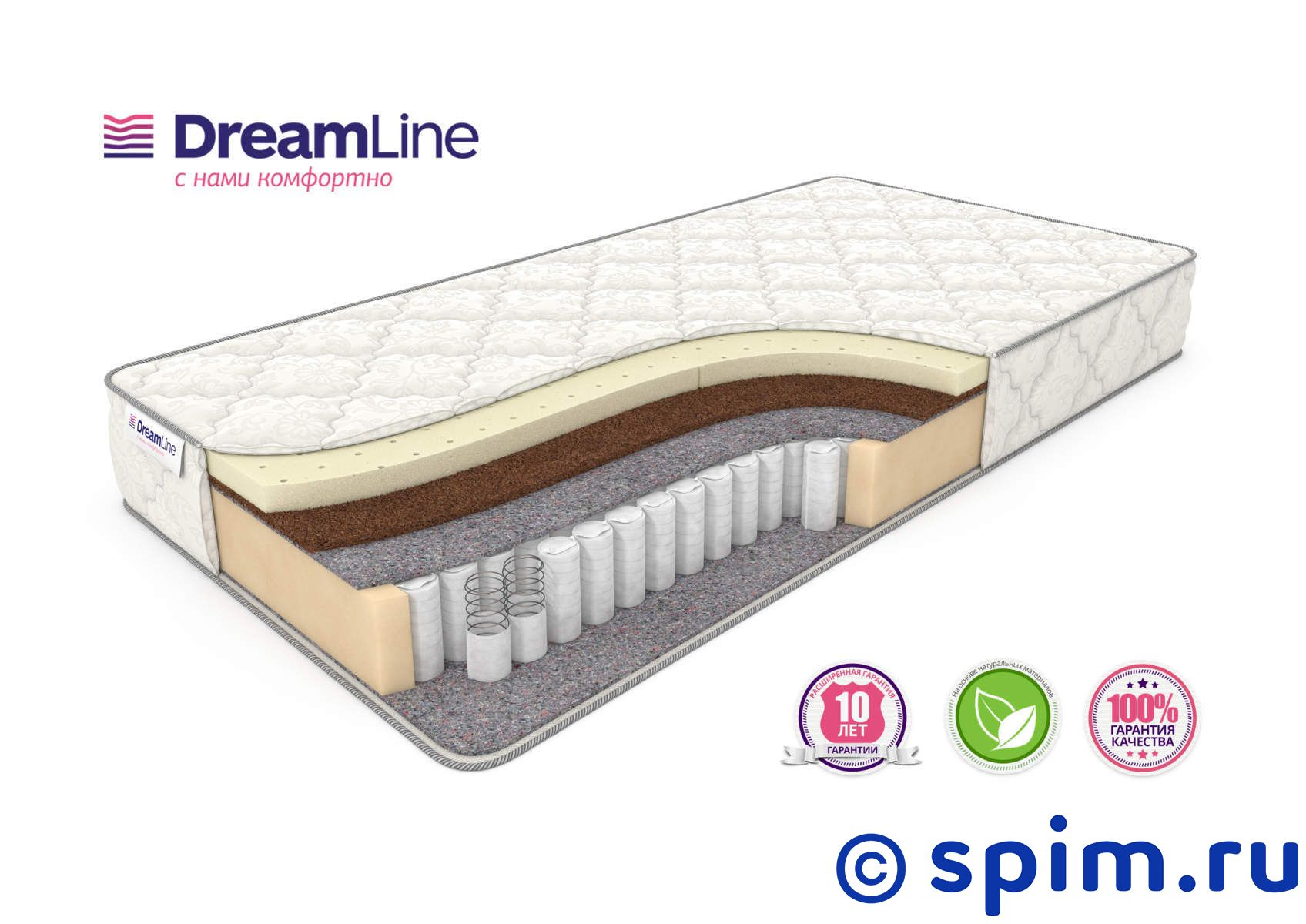 Матрас DreamLine Single SleepDream Medium Tfk 150х195 см матрас dreamline sleepdream medium tfk 140х200 см