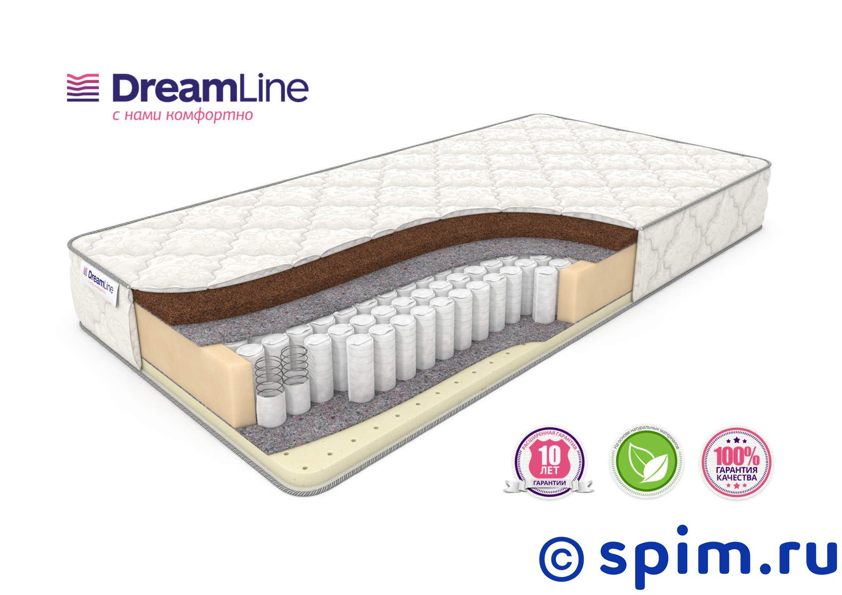Матрас DreamLine SleepDream Tfk 180х195 см матрас dreamline sleepdream medium tfk 140х200 см