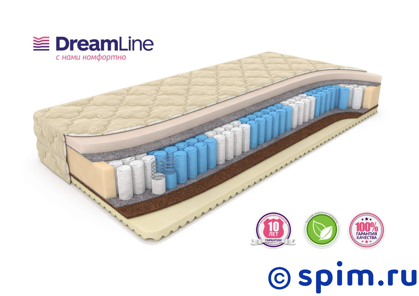 Матрас DreamLine Memory Mix Smart Zone 90х190 см