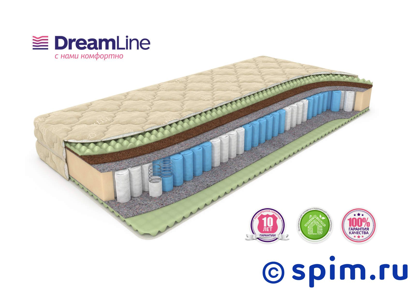 Матрас DreamLine Mix Foam Smart Zone 150х195 см матрас dreamline mix smart zone 120x195