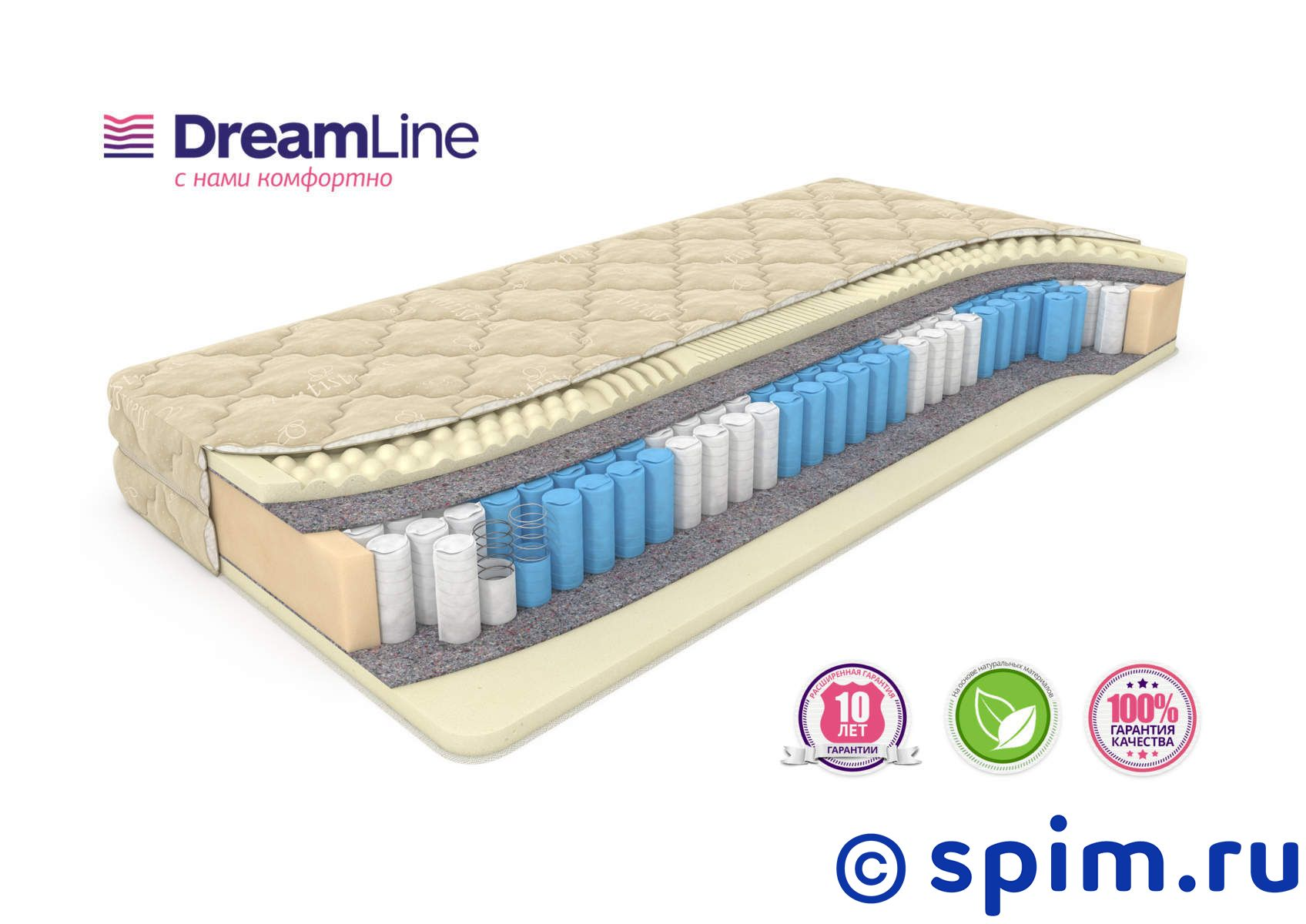 Матрас DreamLine Sleep Smart Zone 160х190 см матрас dreamline mix smart zone 120х200