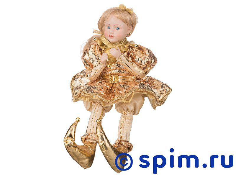 Музыкальная интерьерная кукла Девочка в золотом платье, арт. 856-006