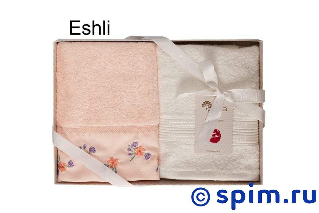 Набор из 2-х полотенец Arya Eshli, персиковый-экрю 50х90 см фартук arya 4 пр bread 1025576