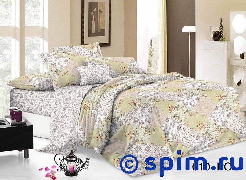 Постельное белье Cleo 010-PC Евро-стандарт постельное белье luxe dream шоколад евро стандарт