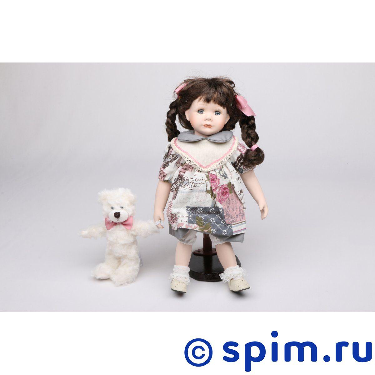 Интерьерная кукла Девочка с мишкой C21-148611 кукла весна 35 см