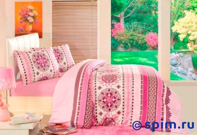 Постельное белье Altinbasak Dante, розовый Евро-стандарт