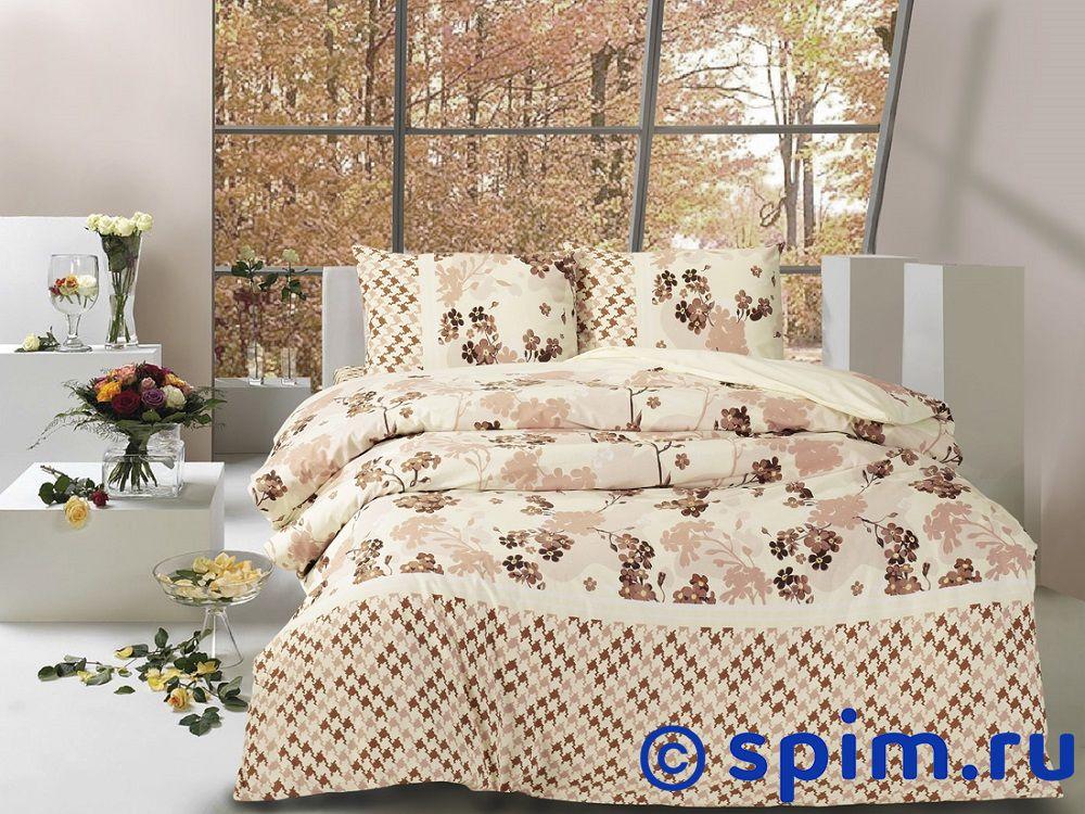 Постельное белье Altinbasak April, коричневый Евро-стандарт