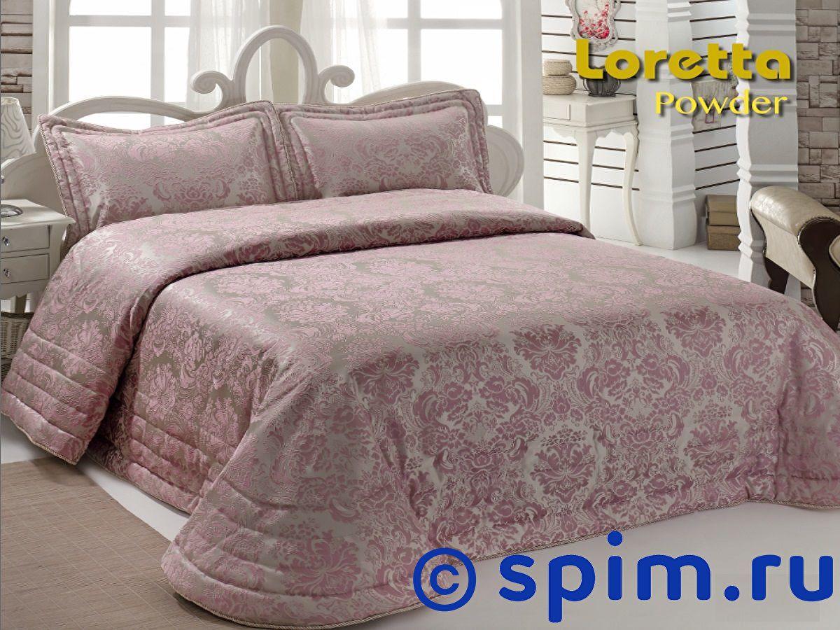 Покрывало Nazsu Loretta пудра, с наволочками 250х270 см покрывало karna rose с вышивкой пудра 200х220 см