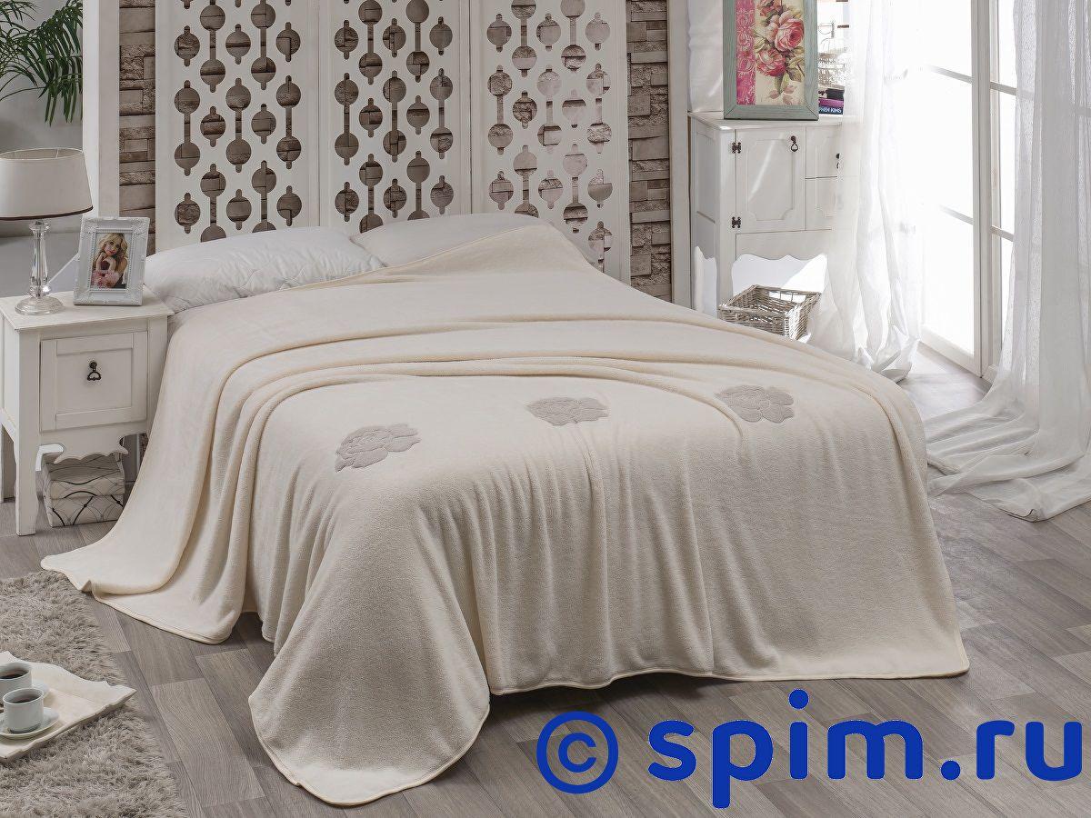 Покрывало Karna Rose с вышивкой, кремовое 160х220 см покрывало karna rose с вышивкой пудра 200х220 см