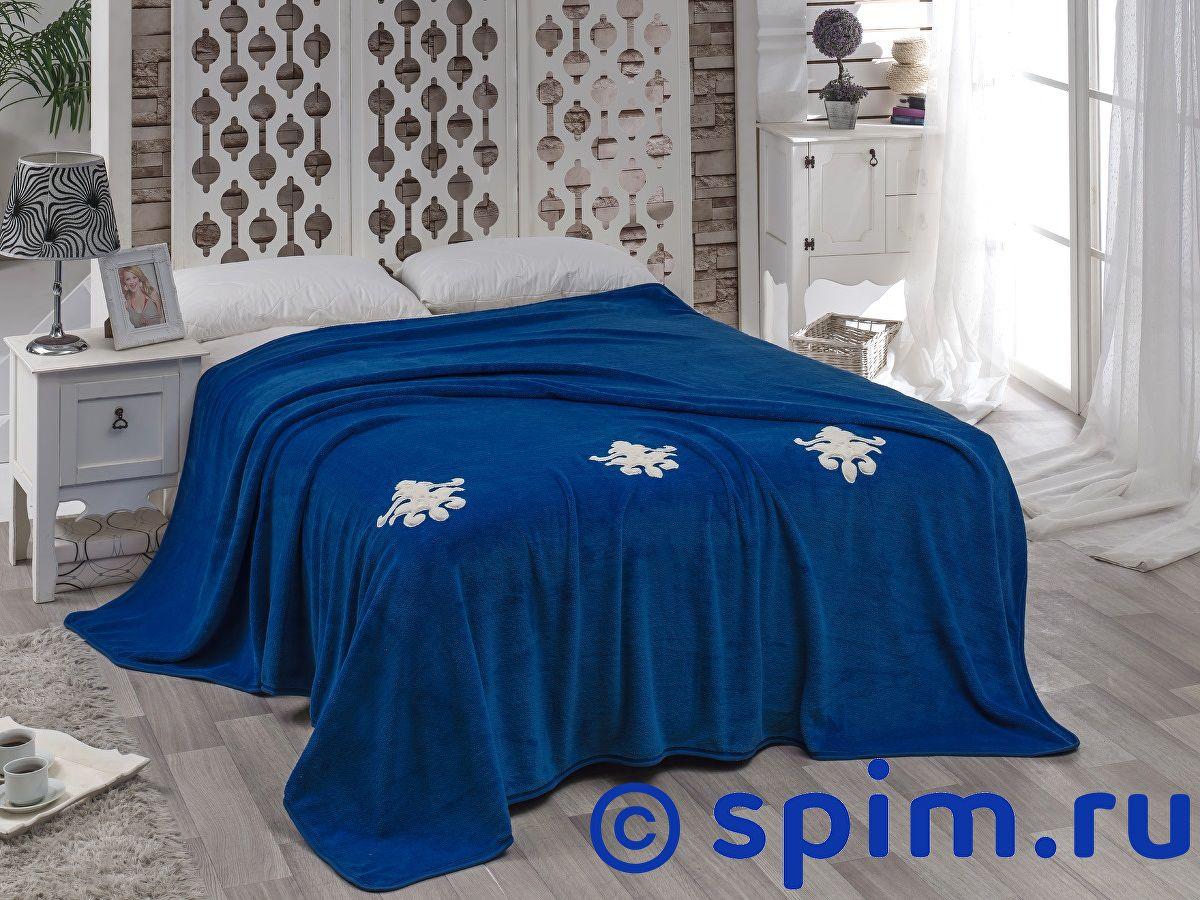 Покрывало Karna Damask с вышивкой, парламент 160х220 см покрывало karna rose с вышивкой пудра 200х220 см