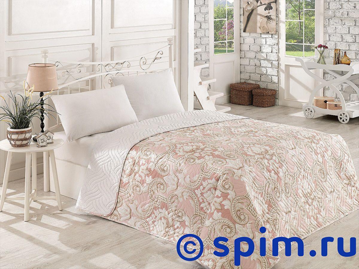 Покрывало Karna V18, стеганое 160х220 см покрывало karna rose с вышивкой пудра 200х220 см