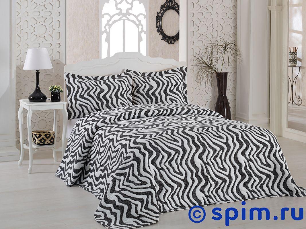 Покрывало Karna Zebra черное, с наволочками 260х240 см покрывало karna покрывало vartien цвет пудра 240х260 см