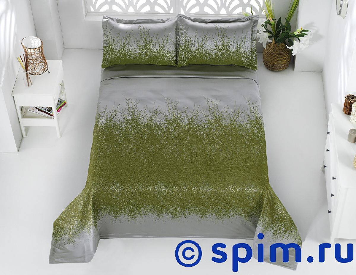 Покрывало Karna Florina зеленое, с наволочками 260х260 см покрывало karna покрывало argolis цвет стоне 260х260 см