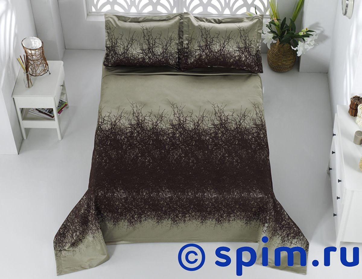 Покрывало Karna Florina коричневое, с наволочками 260х260 см покрывало karna zebra капучино с наволочками 260х240 см
