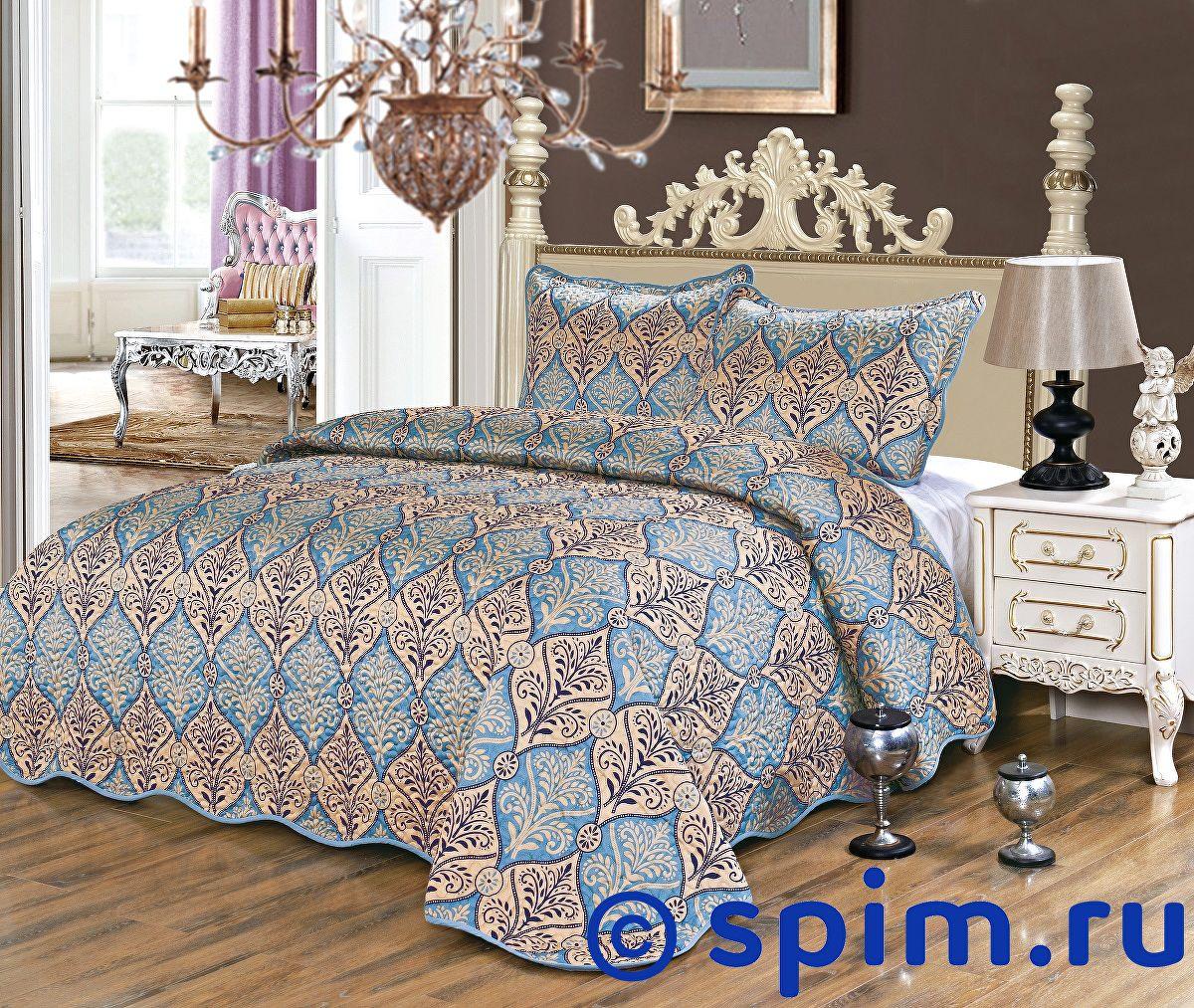 Покрывало Karna Gretal Sultan стеганое, с наволочками 230х250 см покрывало karna zebra капучино с наволочками 260х240 см