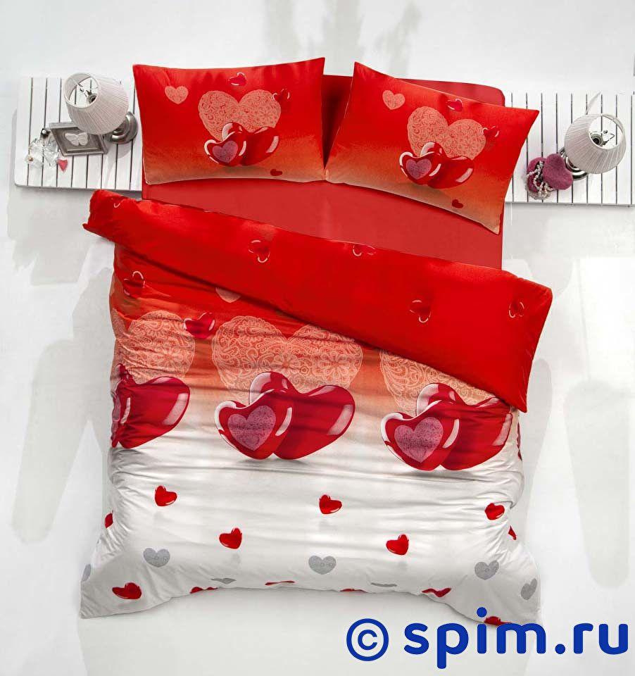 Постельное белье Altinbasak Loveliy, красный Евро-стандарт