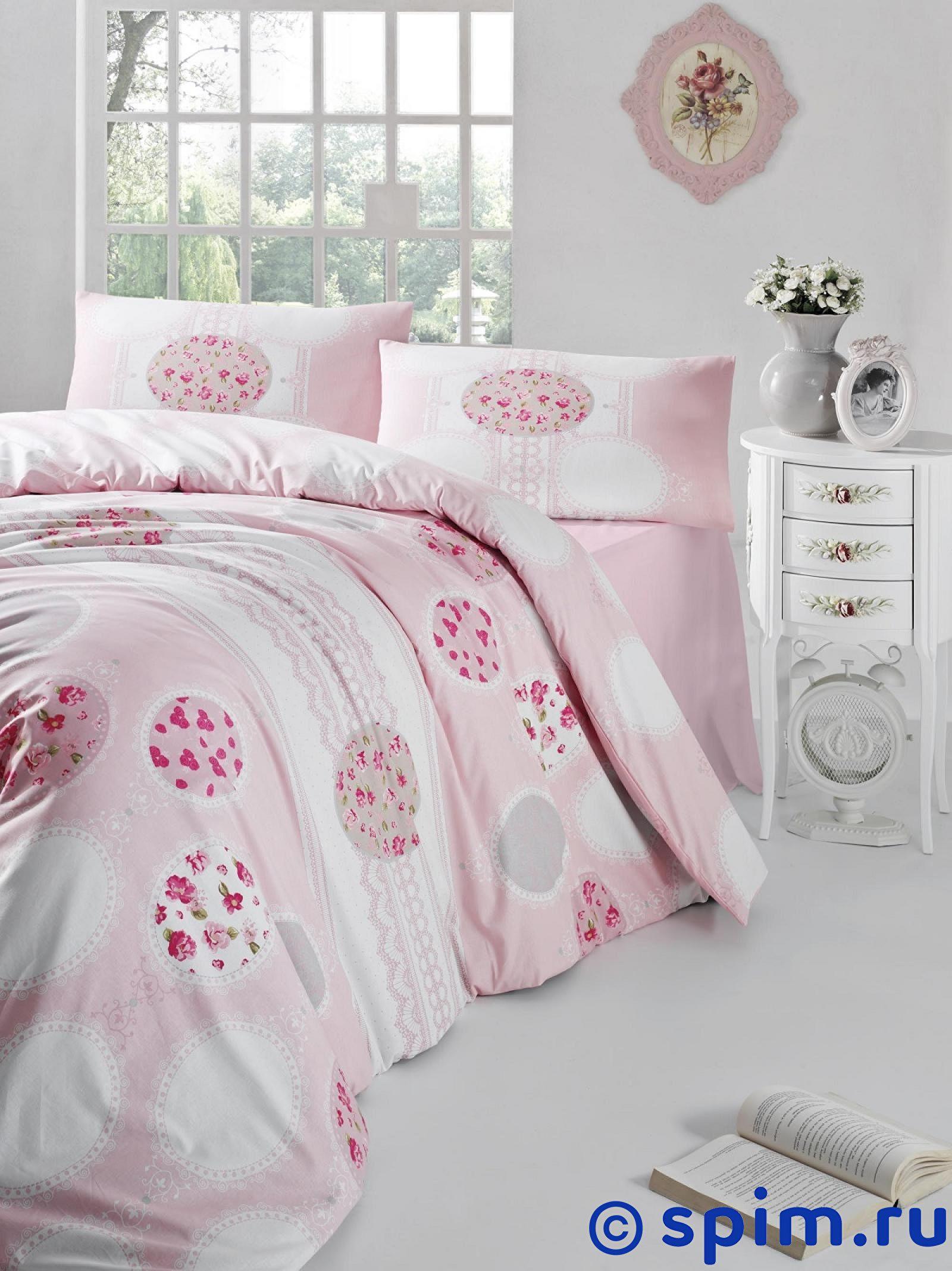 Постельное белье Altinbasak Belin, розовый Евро-стандарт