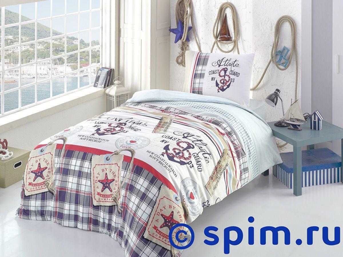 Постельное белье Altinbasak Atlantic, голубой 1.5 спальное