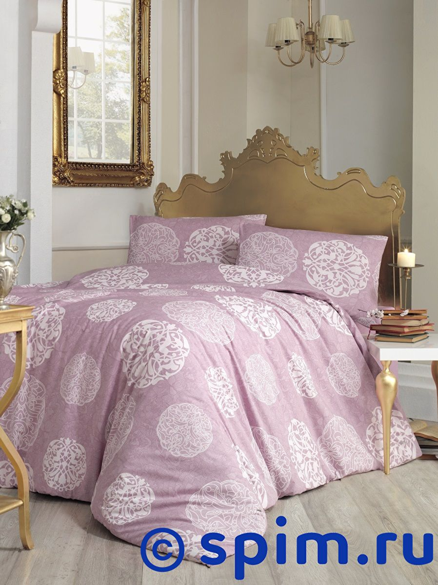 Постельное белье Altinbasak Bello, грязно-розовый Евро-стандарт