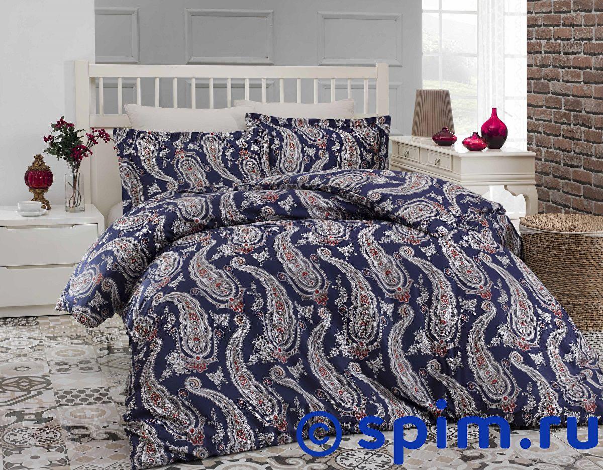 Постельное белье Altinbasak Tina, голубой Евро-стандарт