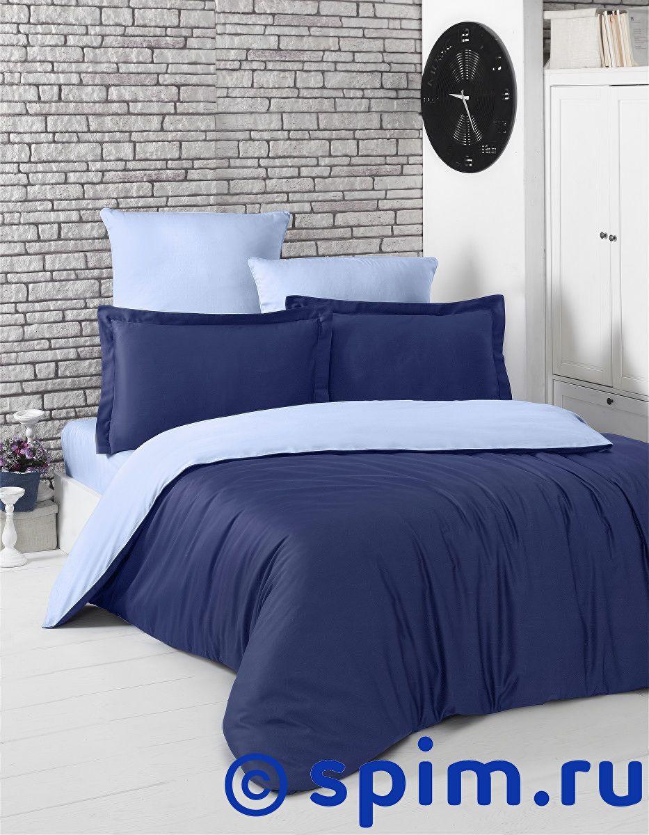 Купить Постельное белье Karna Loft темно-синий, голубой 1.5 спальное