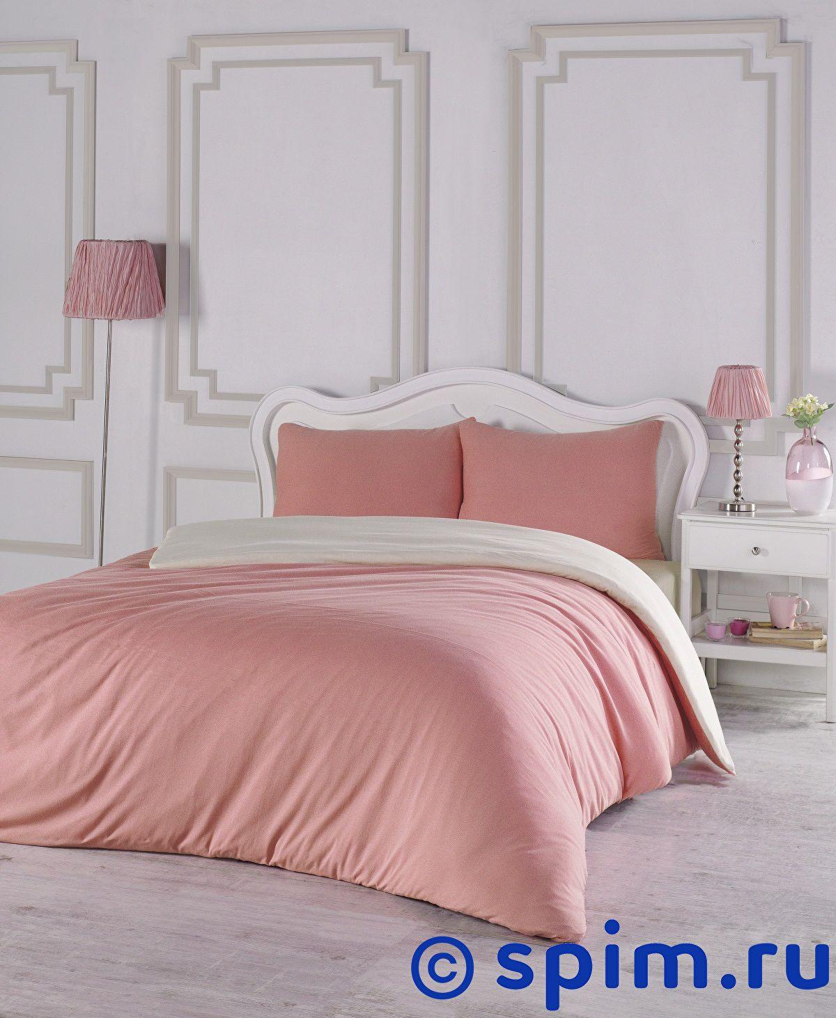 Купить Постельное белье Karna Sofa коралловый-кремовый Евро-стандарт
