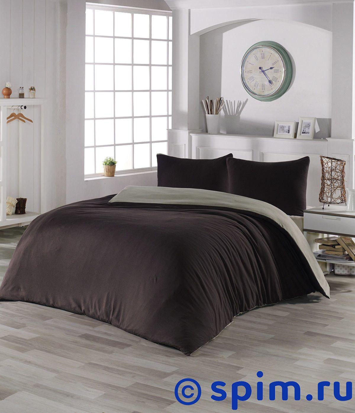 Купить Постельное белье Karna Sofa коричневый-кофейный Евро-стандарт