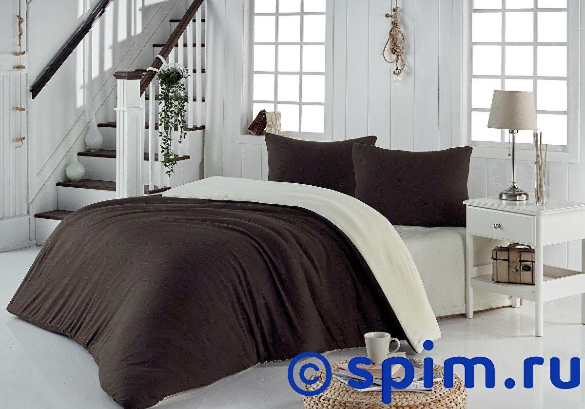 Купить Постельное белье Karna Sofa коричневый-кремовый Евро-стандарт