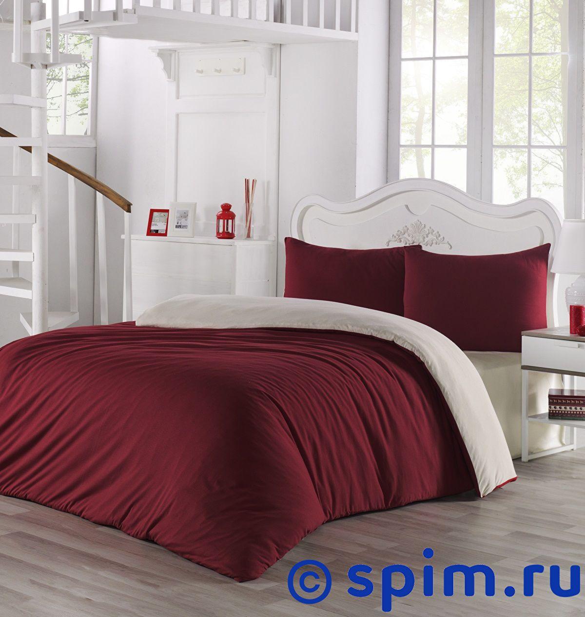 Купить Постельное белье Karna Sofa кремовый-бордовый Евро-стандарт