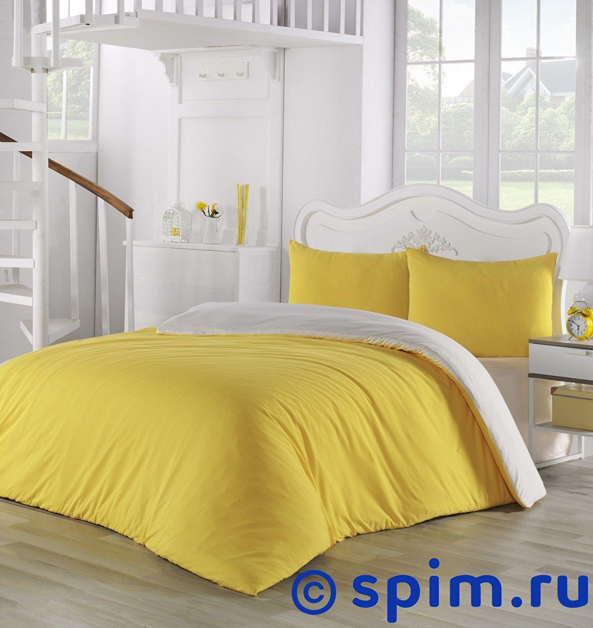 Купить Постельное белье Karna Sofa желтый-кремовый Евро-стандарт