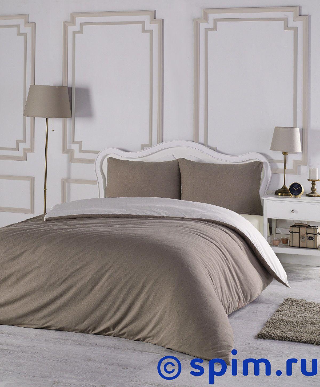 Постельное белье Karna Sofa кофейный-кремовый Евро-стандарт  - Купить