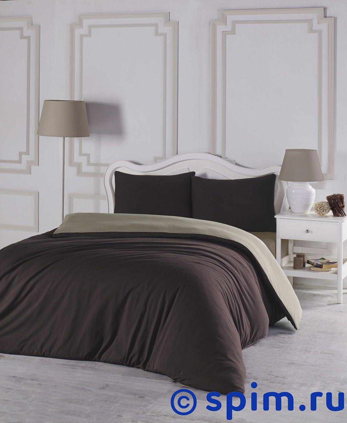 Купить Постельное белье Karna Sofa коричневый-бежевый Евро-стандарт