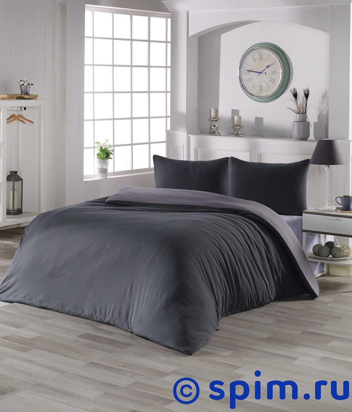 Купить Постельное белье Karna Sofa антрацит-серый Евро-стандарт