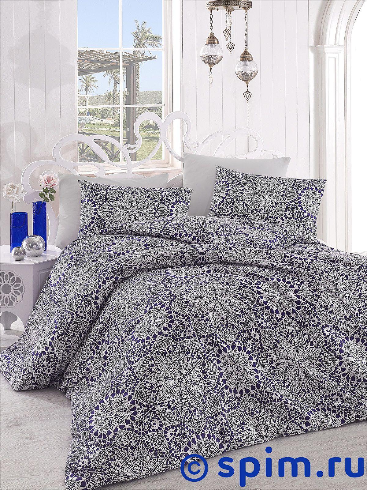 Постельное белье Altinbasak Rozi, синий 1.5 спальное