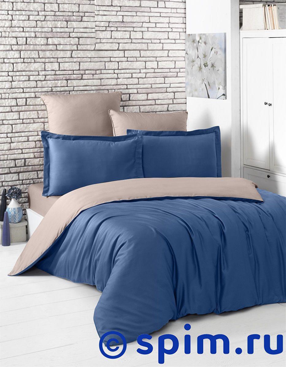 Купить Постельное белье Karna Loft синий-капучино 1.5 спальное