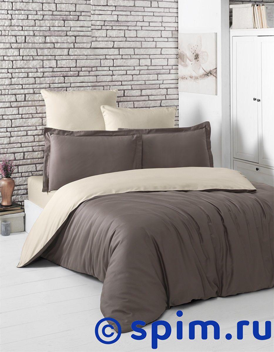 Купить Постельное белье Karna Loft коричневый-бежевый 1.5 спальное