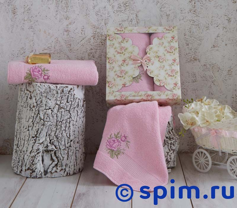 Комплект полотенец Karna Romans, розовый