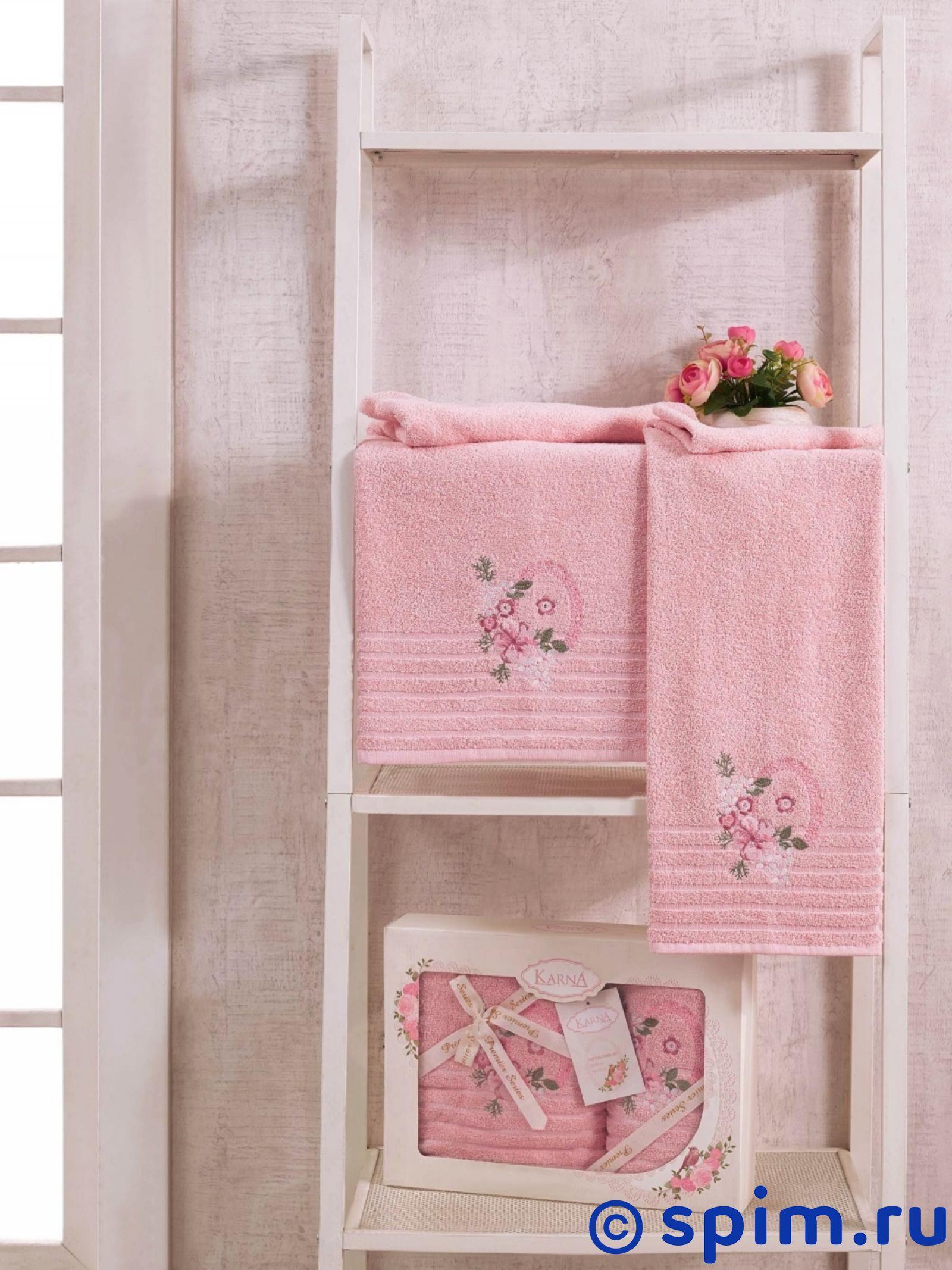 Комплект полотенец Karna Camile, пудра покрывало karna покрывало evony цвет пудра 240х260 см