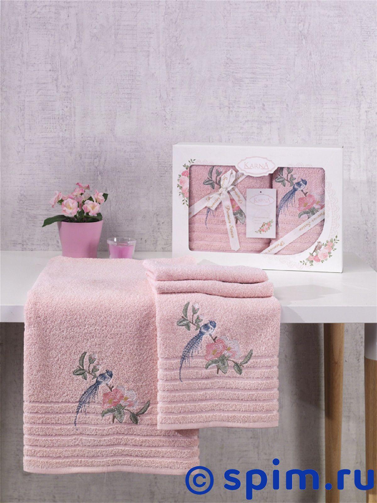 Комплект полотенец Karna Este, пудра покрывало karna покрывало evony цвет пудра 240х260 см