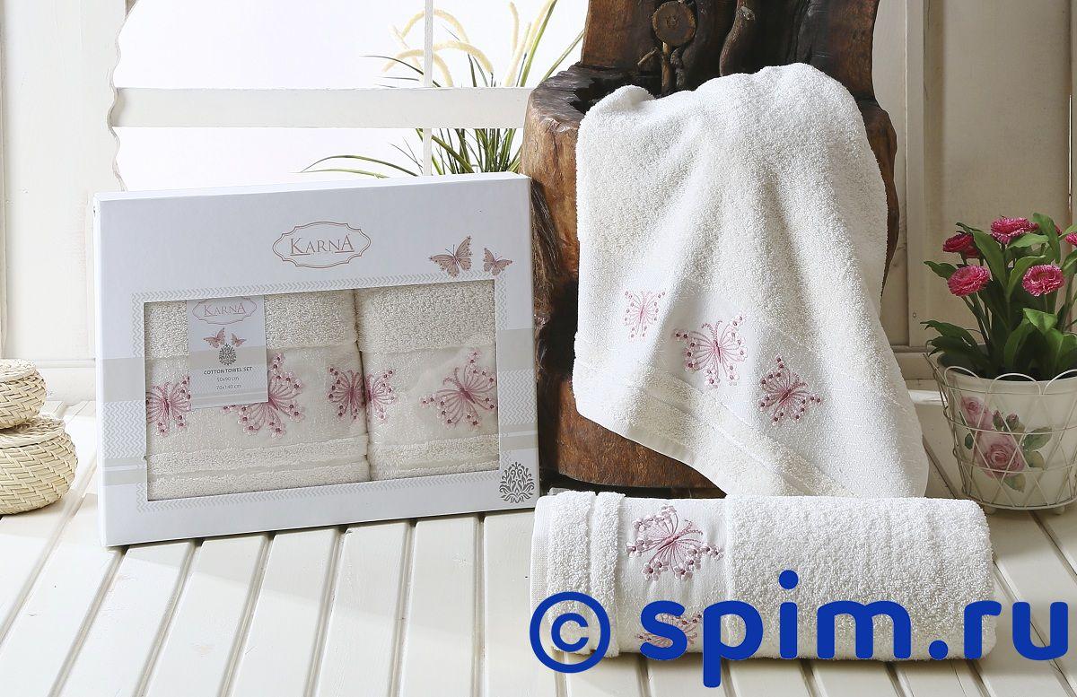 Комплект полотенец Karna Bianca, кремовый bianca ferrari фарфалле 500 г