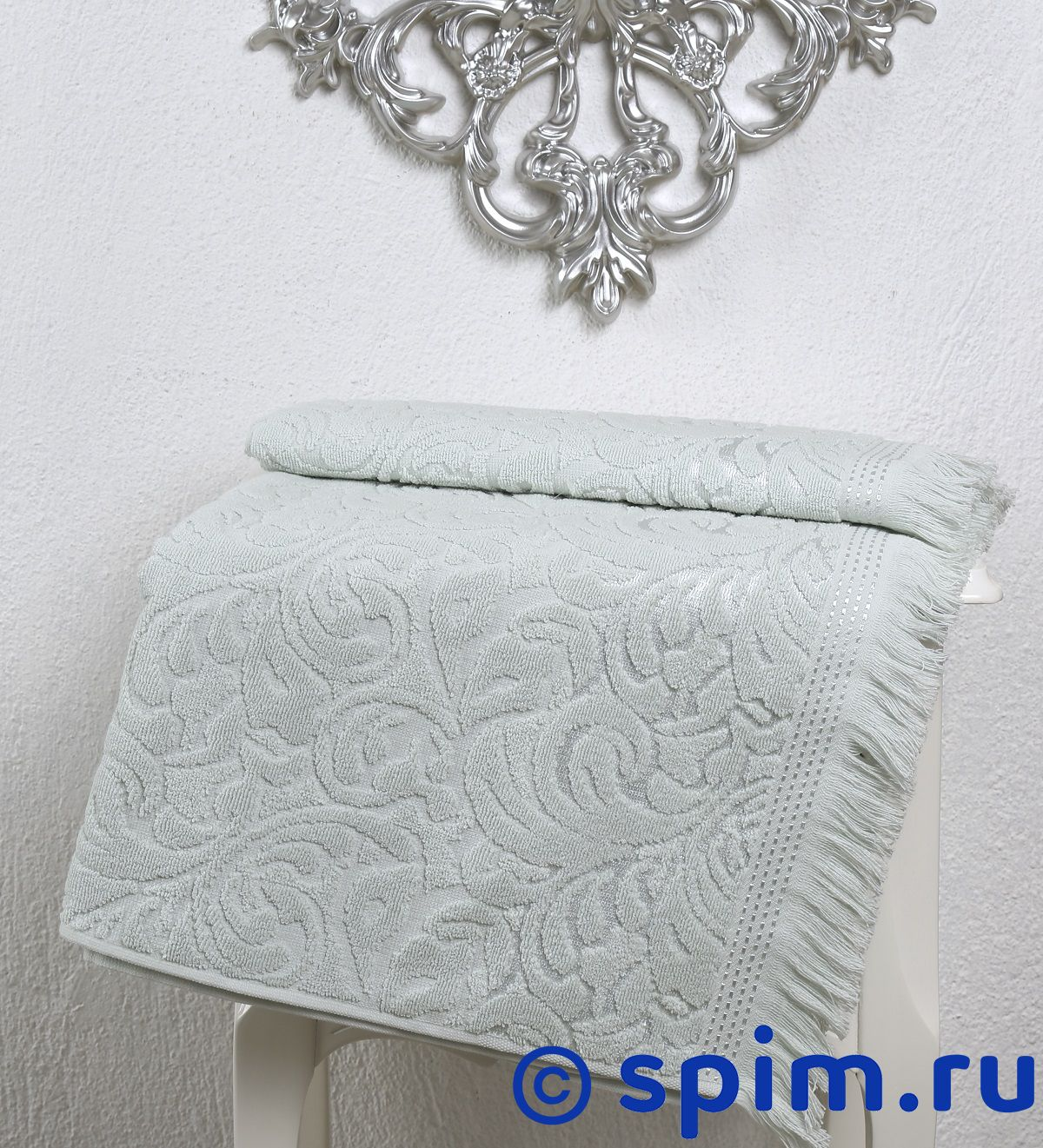 Полотенце Karna Esra 70х140 см, светло-зелёное комплект махровых полотенец karna esra 50x90 70х140 см 1158865