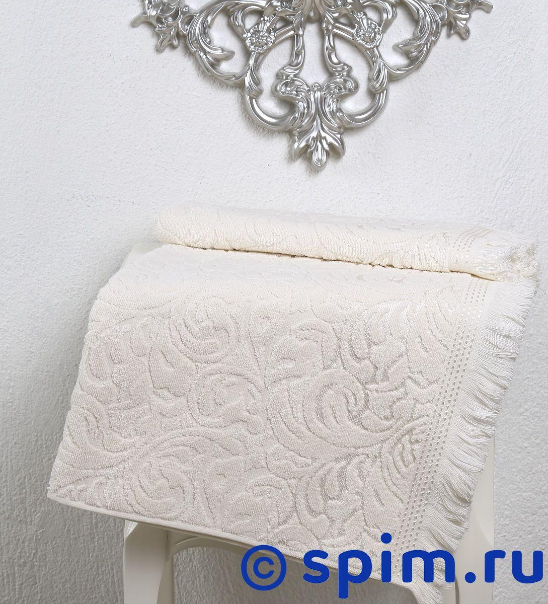 Полотенце Karna Esra 70х140 см, кремовое комплект махровых полотенец karna esra 50x90 70х140 см 1158865